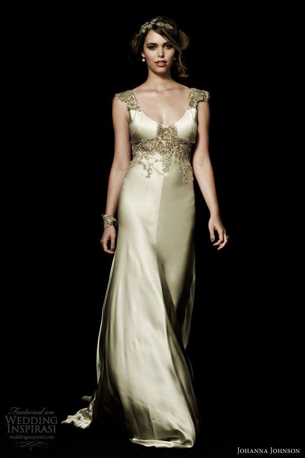 johanna johnson wedding dresses hero collection satine cap sleeve gown