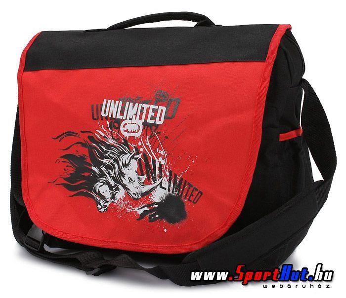 Ecko Unltd. oldaltáska, notebook táska piros-fekete színben