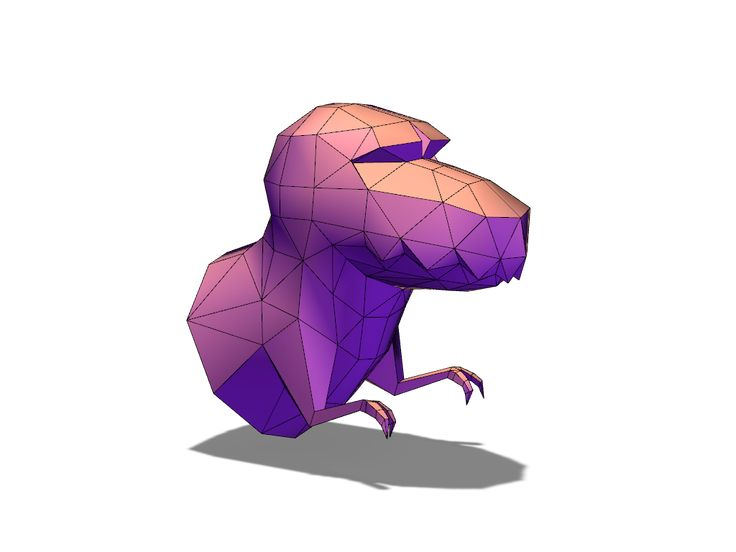 Lowpoly T-rex: a 3D model created with VECTARY - the free online 3D modeling tool #3Dprinting