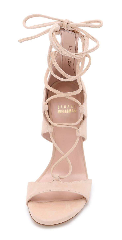 Stuart Weitzman Leg Wrap Suede Sandals | SHOPBOP