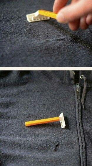 Per togliere i pallini di lana dai maglioni... Depilazione! Perché non c'ho mai pensato?!