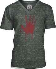 Blood Hand (Red) Mens V-Neck T-Shirt