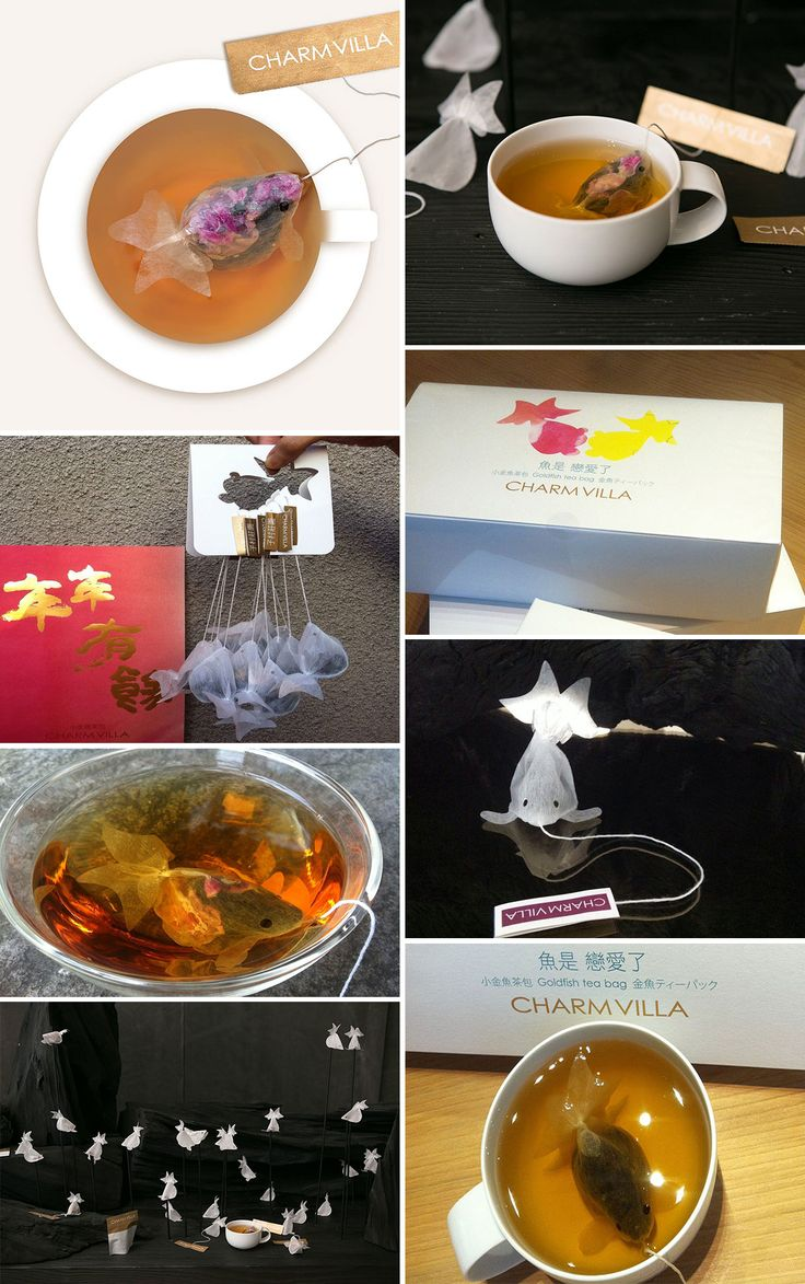 These Goldfish Tea Bags From. Taiwan Turn Your Teacup Into A Fishbowl (Charm Villa)
