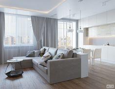 Дизайн квартиры в стиле легкий минимализм 94 кв. м | Студия LESH