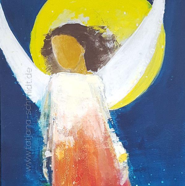 Acrylmalerei - Er ist immer bei Dir - ein Designerstück von Kunst-Punkt bei DaWanda