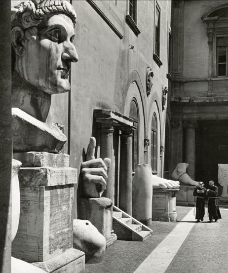 Photo by Herbert List, 1949, Courtyard of the Palace of the Conservators…