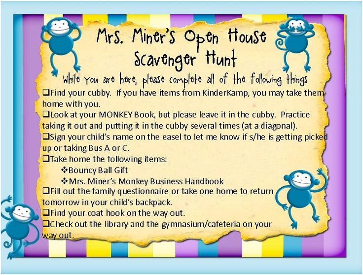 I Do A Scavenger Hunt Every Year During Open House. We Have Our Open House  On The Evening Of The First Day Of School, So It Is A Great Way .