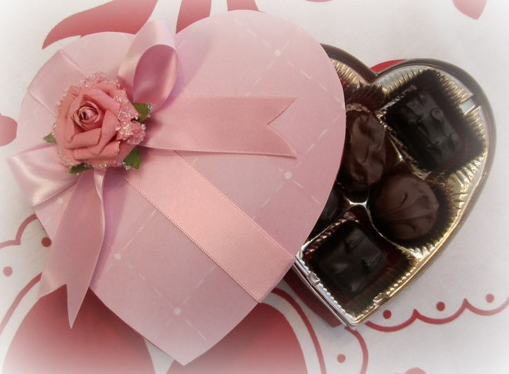 34 best Vintage valentine heart candy box images on Pinterest ...