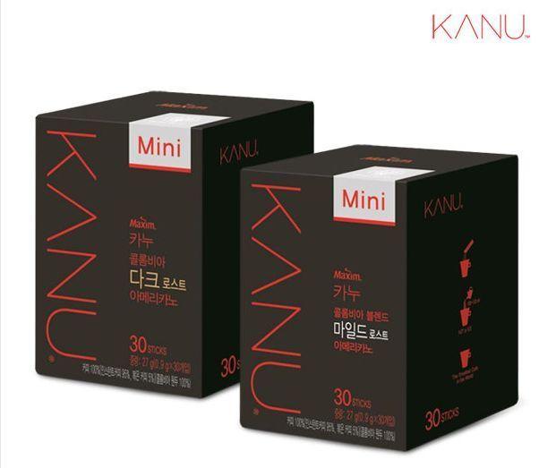 (30 Sticks) Korean Instant Coffee Mix Maxim KANU Columbia Americano Mini / 2Type #MaximKANU
