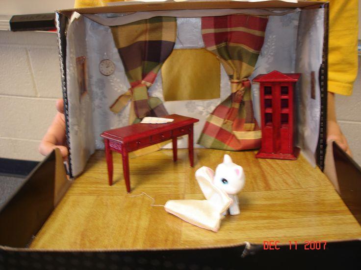 Shoebox book report diorama
