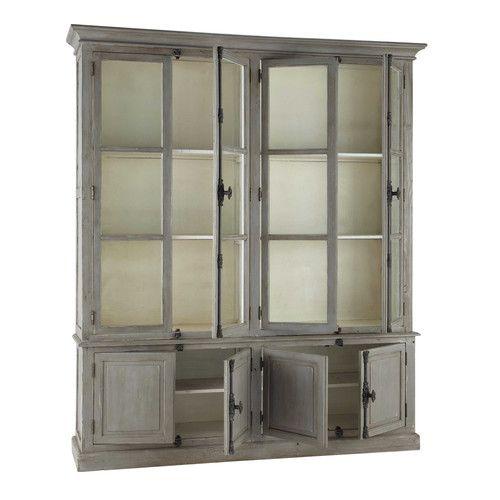 buffet aus recyclingholz b 200 cm grau pauillac. Black Bedroom Furniture Sets. Home Design Ideas