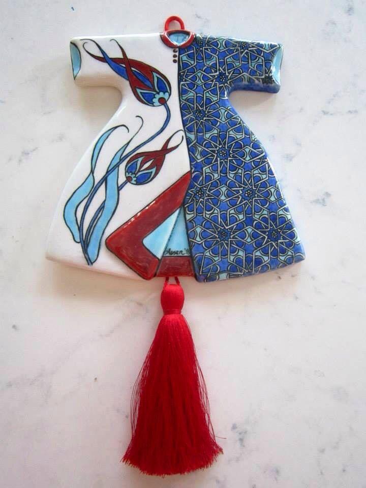 Çini kaftan Tile art, handmade