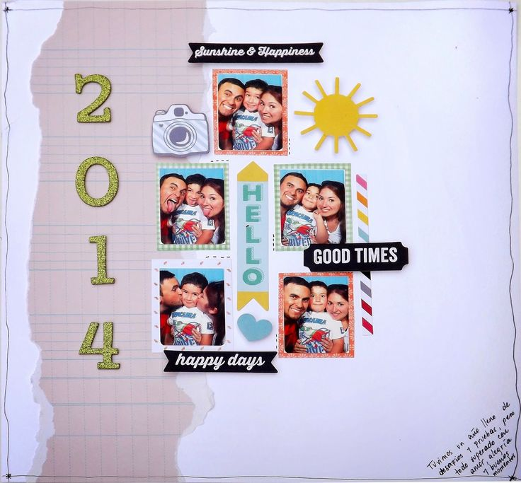 Layout Resumen 2014 Scrapbooking