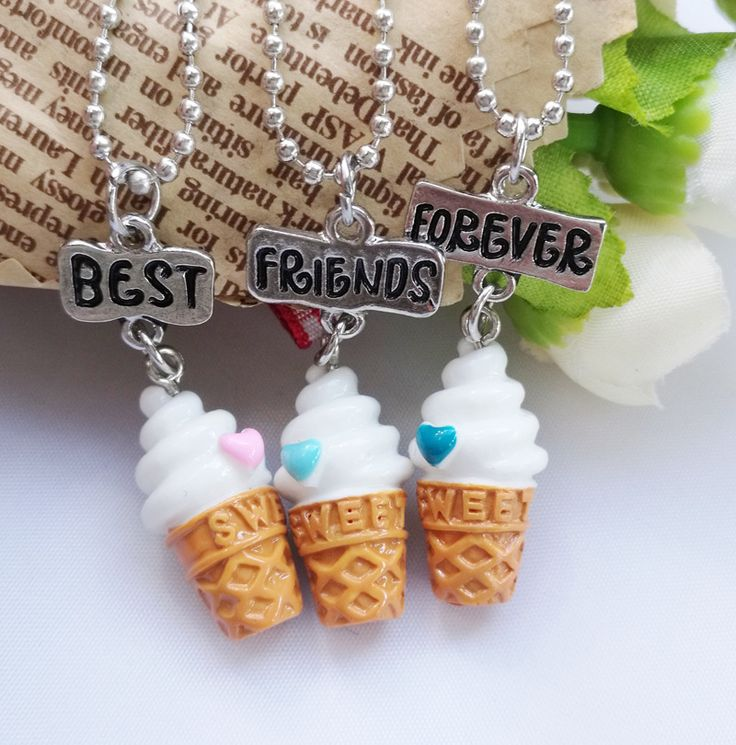 Find More Chain Necklaces Information about Kids jewelry children necklace cute ice cream best friends BFF necklace bead chain pendant charm necklace set gift for girl,High Quality earrings bangles,China earrings hot Suppliers, Cheap earrings triangle from U-DESIGN JEWELRY Store on Aliexpress.com
