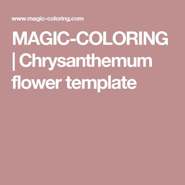 MAGIC-COLORING | Chrysanthemum flower template