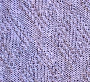 Moss Stitch Border Diamonds