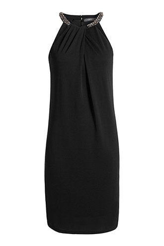Esprit - Blød kjole med smykkesten i Esprits Online-Shop