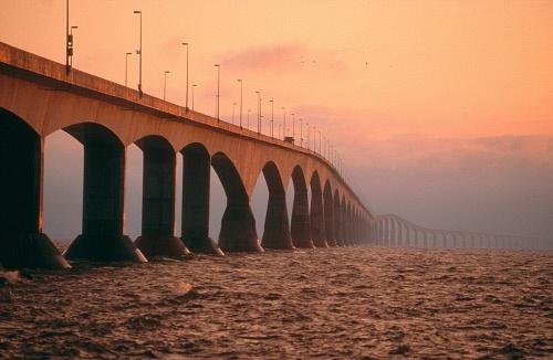 Confederation Bridge, New Brunswick to PEI ~ Longest bridge in the world, 13 kilometers (approx 8 miles) long.