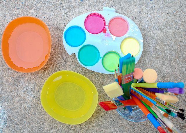 cornstarch paint by LillianClaire, via Flickr