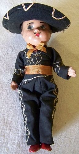 Mexican Folk Art doll- OMG! I had this doll when I was small. My dad got it for me along with a girl doll.
