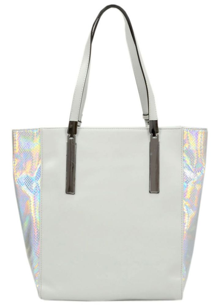 #white #bag #shoulderbag #tote #geanta #genti #cool #melimelo