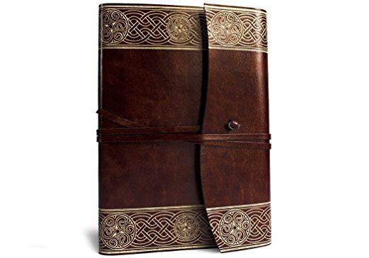 Celtic Handgemachtes Italienisches Notizbuch aus recyceltem Leder, Größe A5 (15cm x 21cm): Amazon.de: Küche & Haushalt