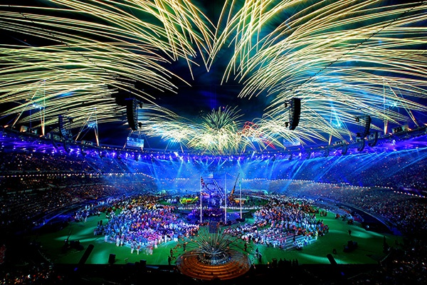 Fireworks light up the stadium during the closing ceremony on day 11 of the London 2012 Paralympic Games at Olympic Stadium on September 9, 2012 in London, England. (Photo by Julian Finney/Getty Images)