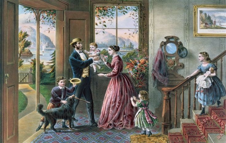 Currier and Ives The Four Seasons of Life Middle Age painting - The Four Seasons of Life Middle Age print for sale