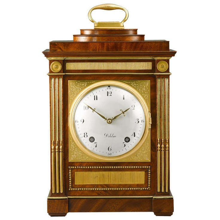 Important German Neoclassical Table Clock by David Roentgen