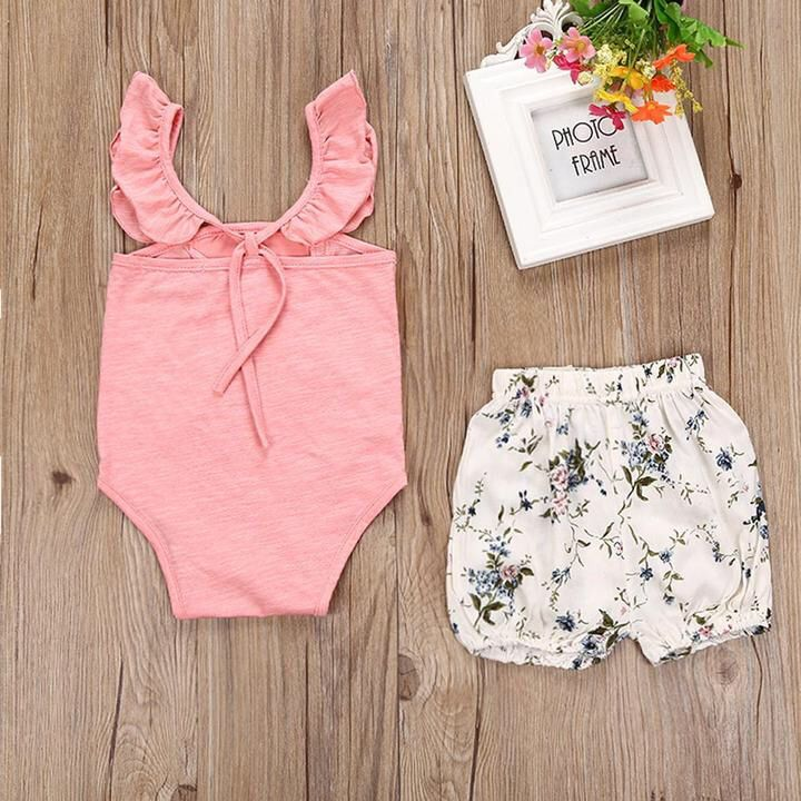2ef665e1a5 Get this Lace Romper Jumpsuit+ Floral shorts for your little girl😍🎉  EVERYTHING S ON SALE