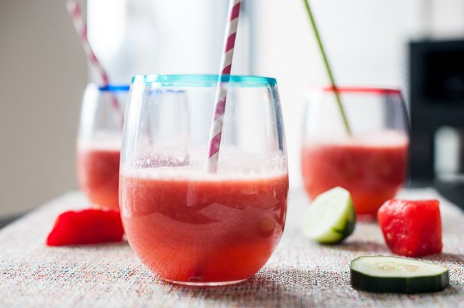 Watermelon-Cucumber Cooler (via www.ingoodtastemag.com) #summer # ...