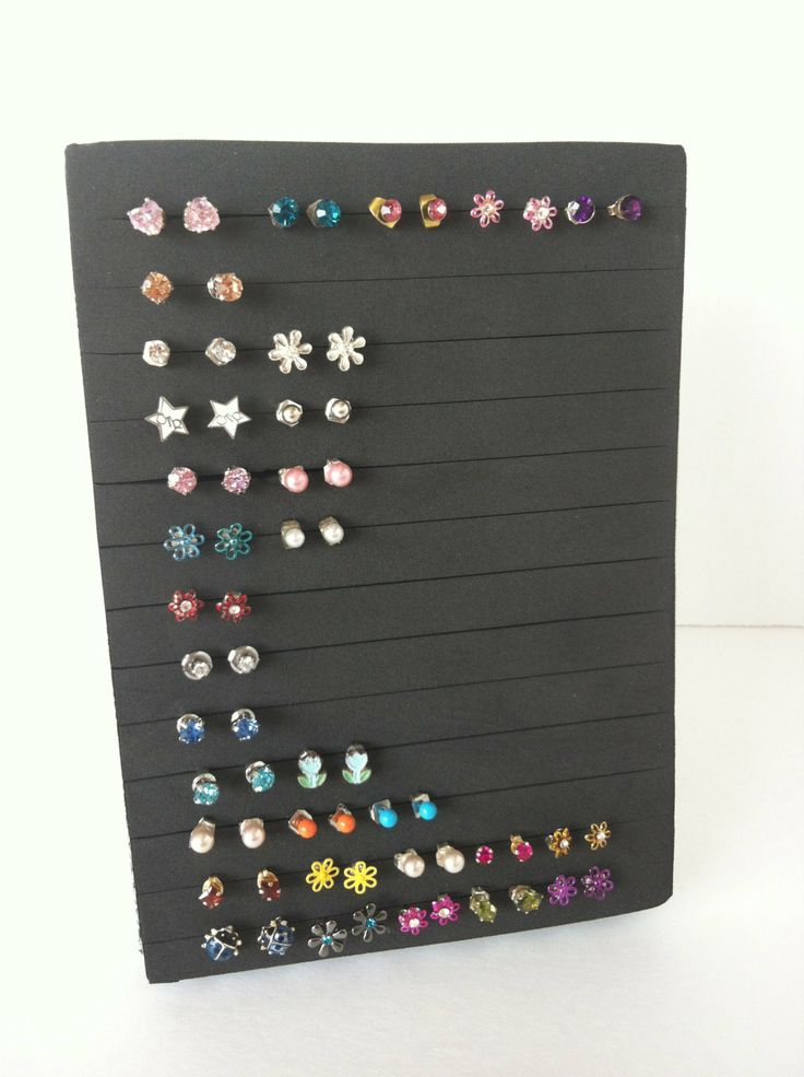 how to store stud earrings post earring holder jewelry organizer by neverlostearrings 2935