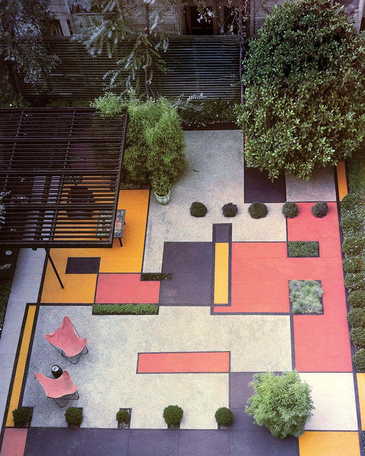 Jenni Li and Hans Gissinger: The Ultimate Family-Friendly Home Remodel | #paintedconcrete #patiodesign