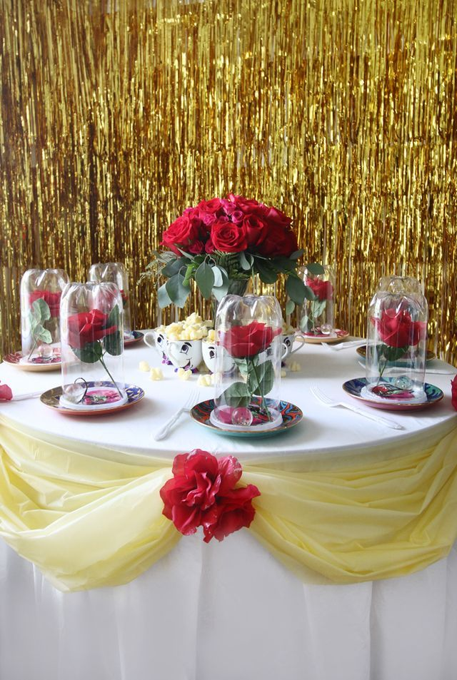 444 best beauty the beast party ideas images on for Beauty and the beast table and chairs