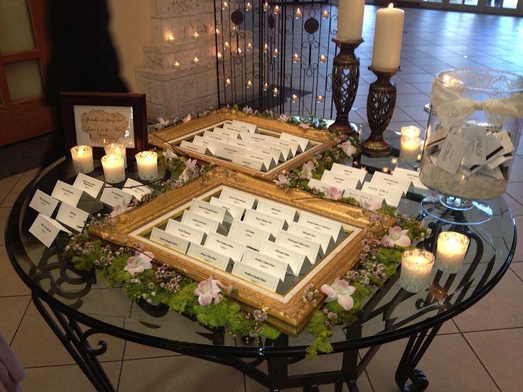 Escort Table  Real Wedding at the  Doral Hotel & Country Club Miami
