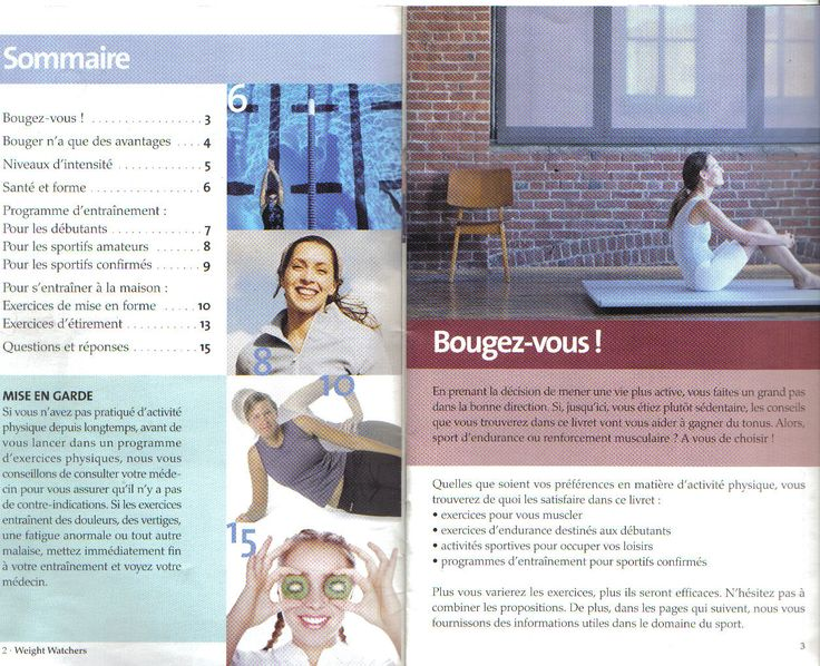 Livret exercice physique Weight Wartchers page 1
