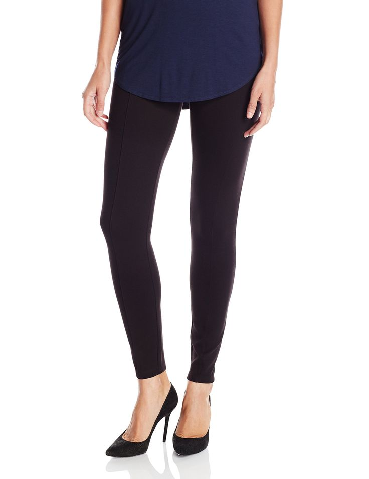A|X Armani Exchange Women's Classic Legging, Black, Medium. Piping down front. Elastic details.