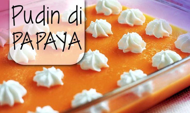 Pudin di Papaya - Deze lekkere pudding kun je zowel warm als koud eten. Warm doet hij het heel goed bij vleesgerechten - en koud is het natuurlijk een lekker toetje! Door het mengen van papaya, kokosnoot en citroen ...