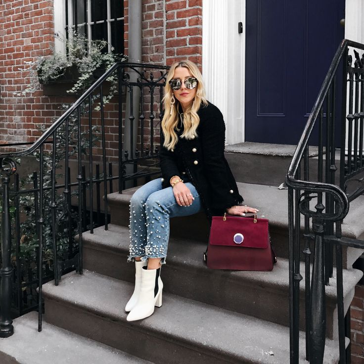 Trend Roundup: Pearl Jeans + Leopard Coats! Have you tried either of these trends?      #styletrends #ootd #pearljeans #styleblogger