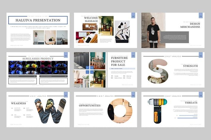Haluiva Pitch Deck Powerpoint Template By Punkl On Envato Elements Presentation Keynote Template Presentation Design Template