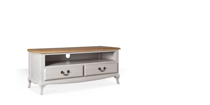 Swoon Editions Media unit, modern country style in oak and Taupe - £399