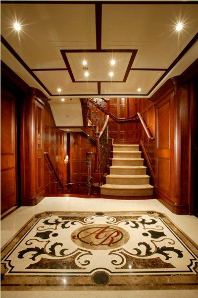 Entry hall, Stairway … Greg Norman's Yacht