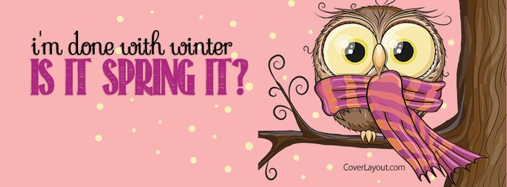 I'm Done With WInter Is It Spring Yet Facebook Cover coverlayout.com