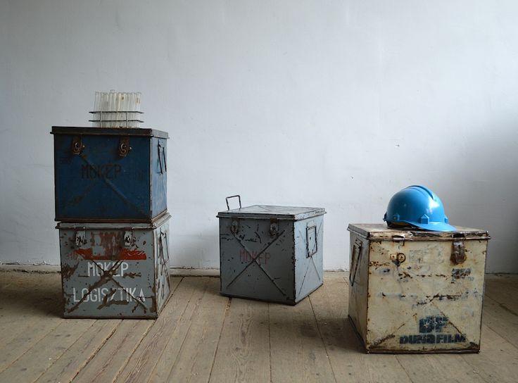 Old film boxes (4 pc) |artKRAFT - Furniture&Design