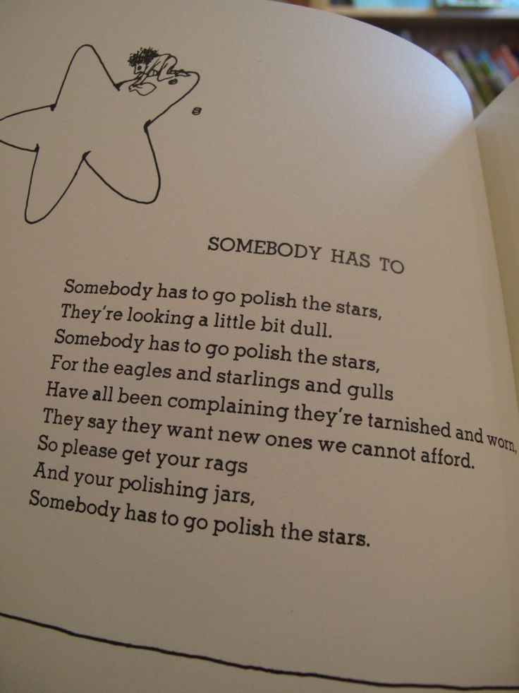 Shel Silverstein; One of my favorites of his..