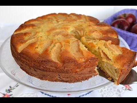 Prăjitură Întoarsă cu Mere - YouTube