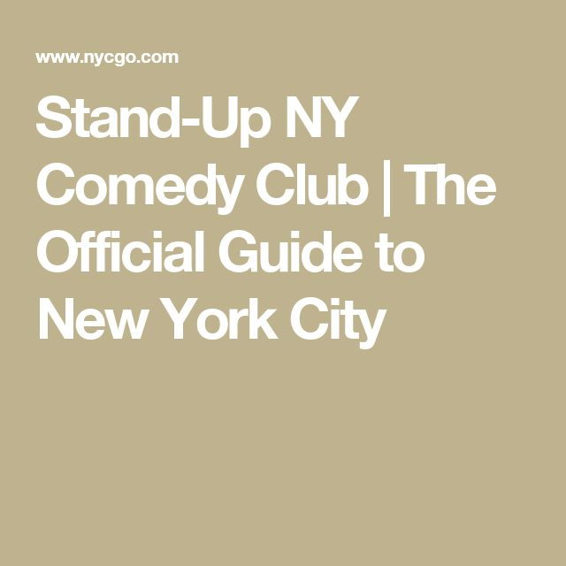 Stand-Up NY Comedy Club | The Official Guide to New York City