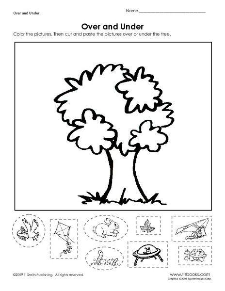 Free Position Worksheets For Kindergarten