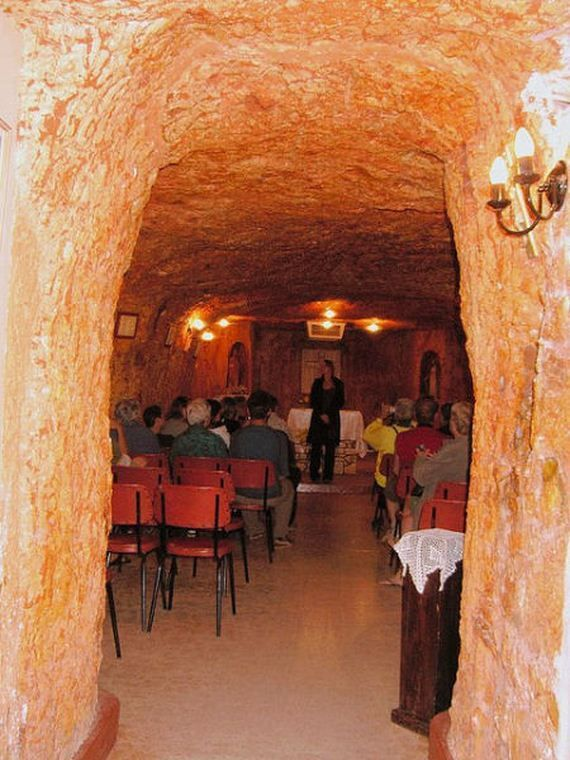 """Amazing underground town  There is in South Australia underground town.Coober Pedy is also known as the world's opal capital with 30% global opals mined here. As for the town name, it is translated as """"whitemans hole"""" from the Aboriginal term kupa-piti."""
