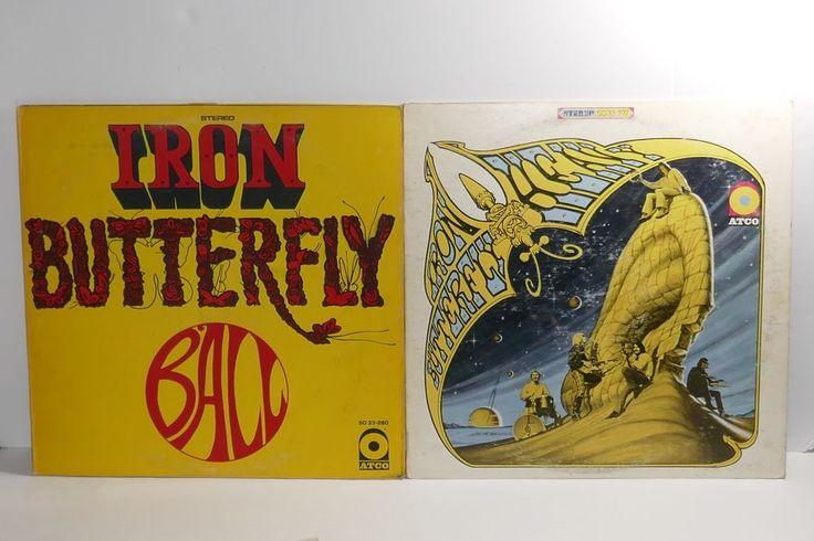 "ATCO Records Iron Butterfly 12"" Vinyl LP Records ~ Ball & Heavy #HardRock"